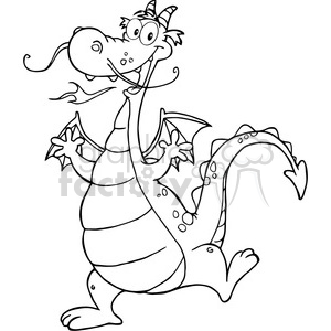 2296-Happy-Dragon-Cartoon-Character clipart. Commercial use image # 384053