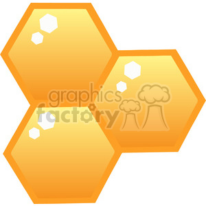 102571-Cartoon-Clipart-Orange-Bee-Hives clipart. Royalty-free image # 384063