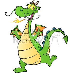 2297-Happy-Dragon-Cartoon-Character clipart. Commercial use image # 384083