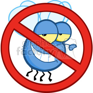 cartoon no flies clipart. Commercial use image # 384173