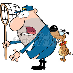 dog-biting-catchers-butt clipart. Royalty-free image # 384183