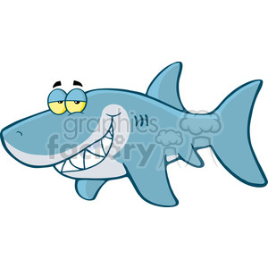 cartoon-greatwhite-shark clipart. Royalty-free image # 384188