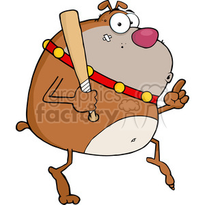 cartoon funny vector comic comical dog dogs angry bully thug bat baseball bulldog crime criminal thief