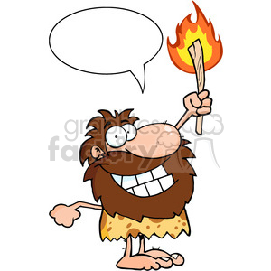 caveman-with-speech-bubble clipart. Royalty-free image # 384208