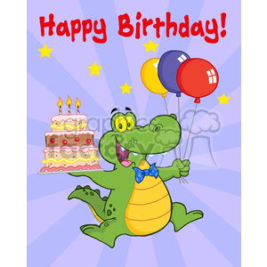 happy-birthday-party-with-alligator clipart. Royalty-free image # 384213