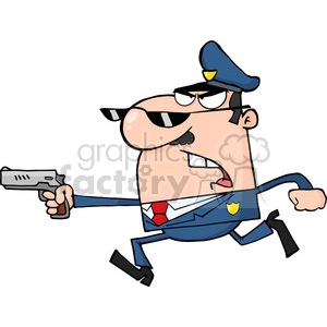 funny-police-character clipart. Royalty-free image # 384228