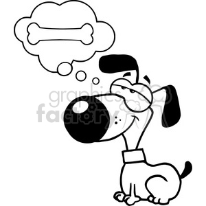 black-white-cartoon-dog clipart. Commercial use image # 384258