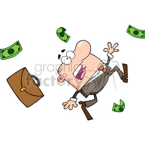 cartoon-business-man-falling clipart. Royalty-free image # 384316