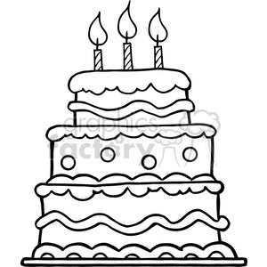 black-white-birthday-cake clipart. Royalty-free image # 384331