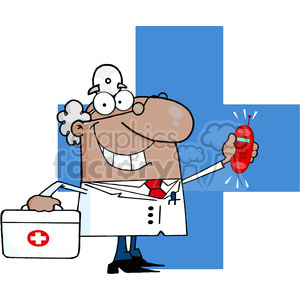 medical-doc-character clipart. Royalty-free image # 384356