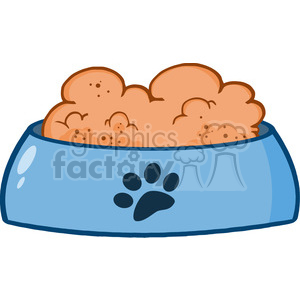 4797-Royalty-Free-RF-Copyright-Safe-Dog-Bowl-With-Food clipart. Commercial use image # 384386