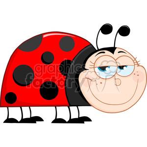 4636-Royalty-Free-RF-Copyright-Safe-Happy-Ladybug-Mascot-Cartoon-Character clipart. Royalty-free image # 384406