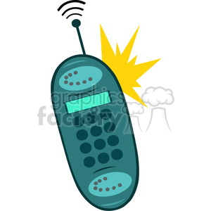 Royalty-Free-RF-Copyright-Safe-Ringing-Cell-Phone clipart. Royalty-free image # 384426