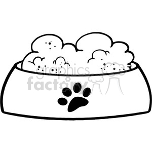 Royalty-Free-RF-Copyright-Safe-Dog-Bowl-With-Food clipart. Royalty-free image # 384466