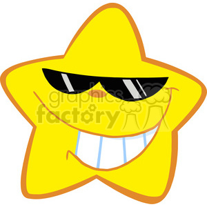 Royalty-Free-RF-Copyright-Safe-Happy-Little-Star-With-Sunglasses clipart. Royalty-free image # 384481