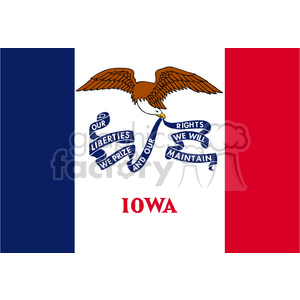 vector state Flag of Iowa clipart. Commercial use image # 384555