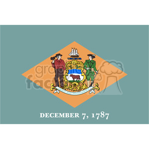 vector state Flag of Delaware clipart. Royalty-free image # 384560