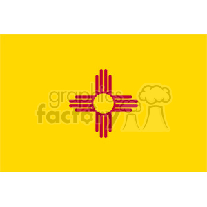 vector state Flag of New Mexico clipart. Royalty-free image # 384565
