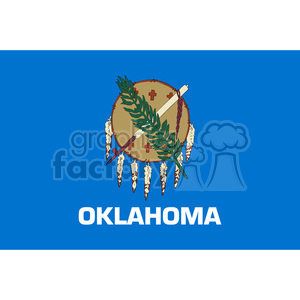 vector state Flag of Oklahoma clipart. Royalty-free image # 384575