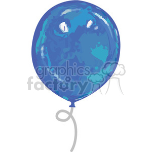 blue balloon clipart. Royalty-free image # 384585