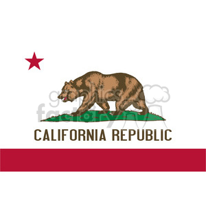vector state Flag of California clipart. Commercial use image # 384595