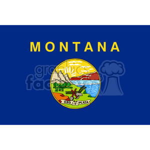 vector state Flag of Montana clipart. Commercial use image # 384600