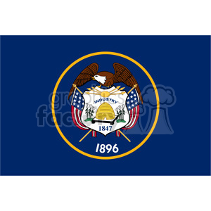 vector state Flag of Utah clipart. Royalty-free image # 384610