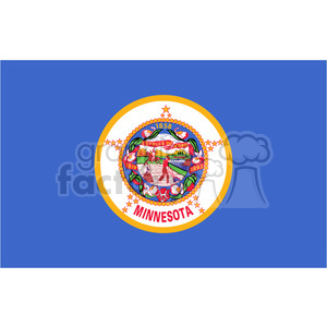vector state Flag of Minnesota clipart. Royalty-free image # 384620
