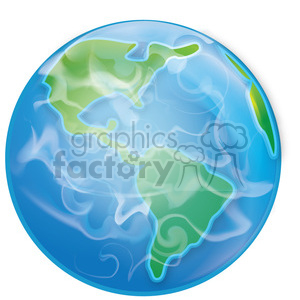 Earth from space clipart. Royalty-free image # 384625