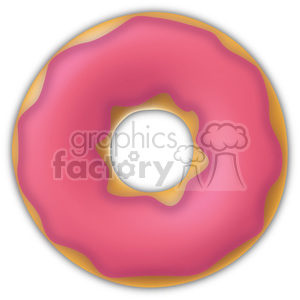 pink glazed doughnut clipart. Commercial use image # 384630