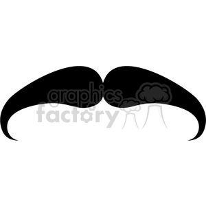 serious mustache clipart. Commercial use image # 384640