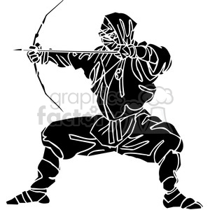 ninja clipart 027 clipart. Royalty-free image # 384675