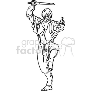 white ninja clip-art 001 clipart. Commercial use image # 384700