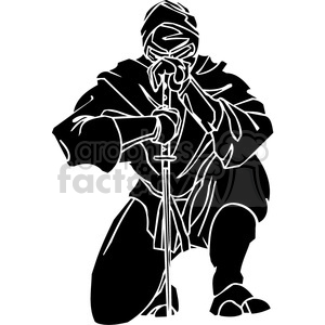 Royalty Free Ninja Clipart 024 384710 Vector Clip Art Image Eps Svg Pdf Illustration