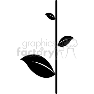 leaf 008 clipart. Royalty-free image # 384856