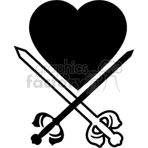 sword and heart 003 clipart. Royalty-free image # 384876