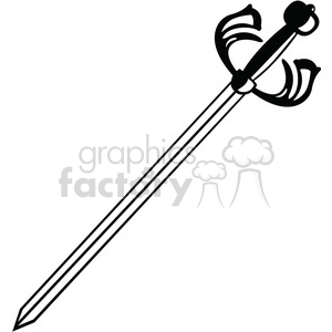 sword 001 clipart. Royalty-free image # 384886