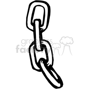 black and white chain clipart. Commercial use image # 384928