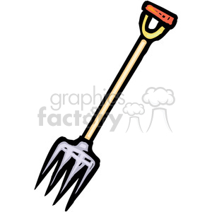 cartoon pitchfork clipart. Royalty-free image # 385038