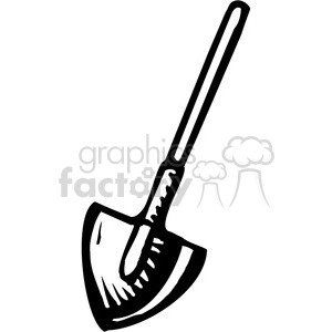 black and white dirt shovel