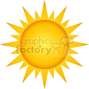 12883 RF Clipart Illustration Summer Hot Sun