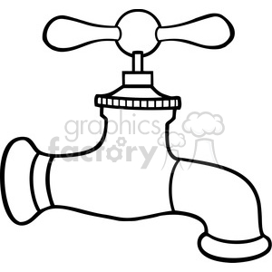 cartoon vector illustration faucet water