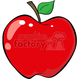 Cartoon Red Apple clipart. Royalty-free image # 385148