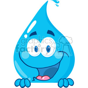 cartoon vector illustration water drop liquid character peak sneaky rain+drop rain
