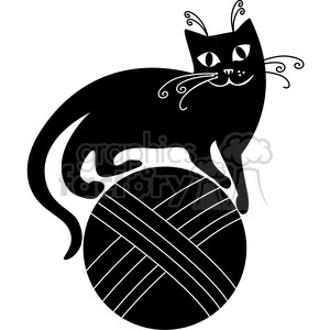 vector clip art illustration of black cat 066 clipart. Commercial use image # 385338