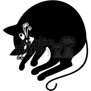 vector clip art illustration of black cat 035 clipart. Royalty-free image # 385348