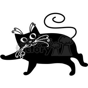 vector clip art illustration of black cat 078 clipart. Commercial use image # 385368