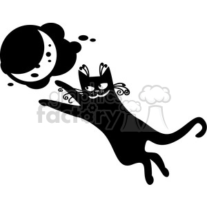 vector clip art illustration of black cat 026 clipart. Royalty-free image # 385388