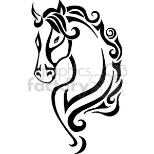 wild horse head clipart. Royalty-free image # 385408