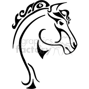 wild horse 046 clipart. Royalty-free image # 385418